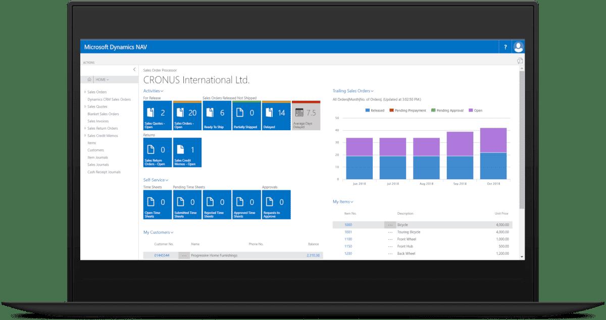 Microsoft Dynamics NAV screenshot