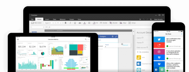 power bi, powerapps, microsoft flow